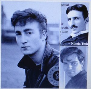 John Lennon, Tesla, and Me - 3 Geniuses, Cropped